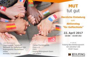 """MUT Tut Gut – Aktionstag """"für Geflüchtete"""""""