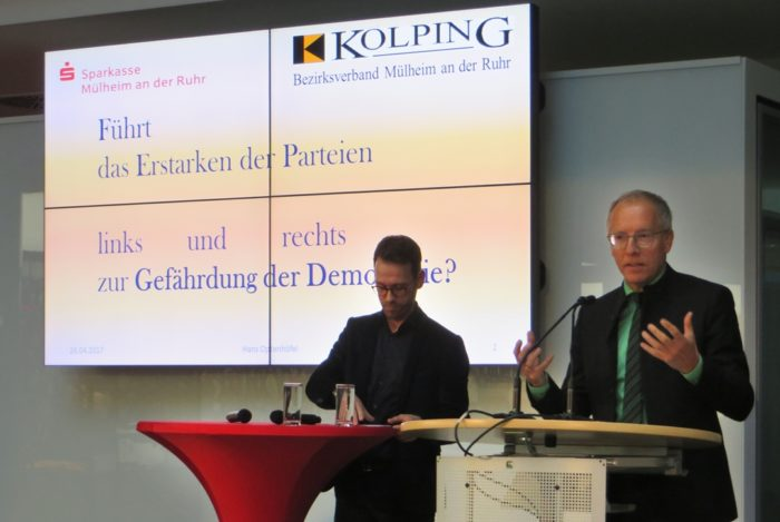 Diskussionsveranstaltung Mit Dem Politikwissenschaftler Prof. Dr. Karl-Rudolf Korte In Mülheim