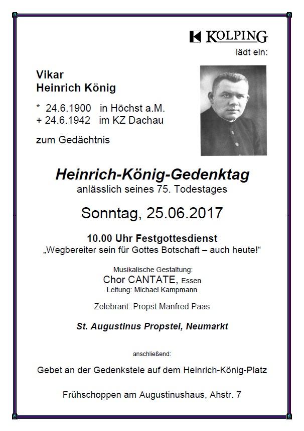 Heinrich-König-Gedenktag Am 25. Juni