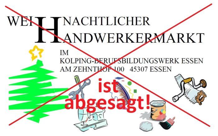 Weihnachtlicher Handwerkermarkt Im KBBW Ist Abgesagt!